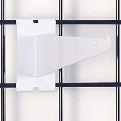 Only Hangers 12 Gridwall Knife Shelf Brackets With Lip - White 8 Pcs
