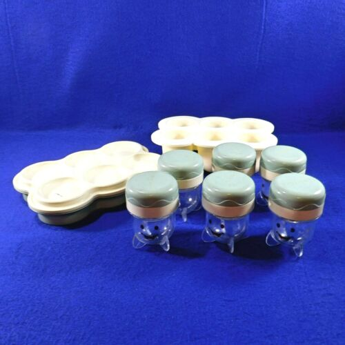 6 Baby Bullet Food Storage Replacement Jars Tray Date Dial Silicone Freezer Tray