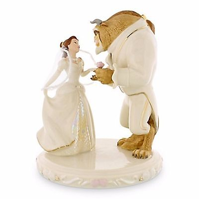 Lenox Disney Beauty and The Beast Princess Belle's Wedding Dreams Cake Topper