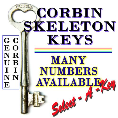 Vintage Corbin Skeleton Keys, Several Numbers Available, Select One Or More