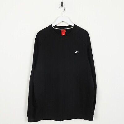 Vintage NIKE Small Logo Sweatshirt Jumper Black | Large L