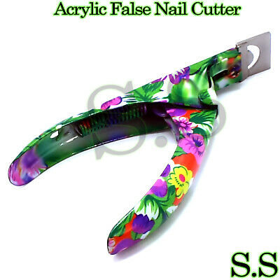 pro acrylic false nail art tips cutter
