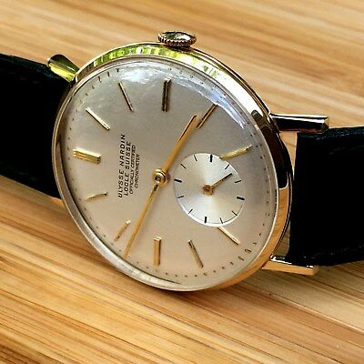 Vintage ULYSSE NARDIN watch, 1950's, 18K gold case, COSC chronometer.