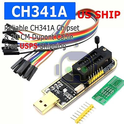 Usb Programmer Ch341a Lcd Burner Chip 24 Eeprom Bios Writer 25 Spi Flash Te839