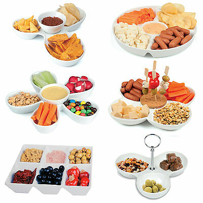 Assorted Snack Dish Porcelain Ceramic Serving Tray Dip Bowl Appetizer Condiment
