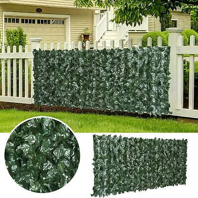 1M*3M Wall Artificial Ivy Leaf Hedge Screening Roll Garden Fence Balcony Privacy