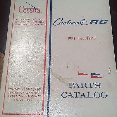 1971 & 1973 Cessna Cardinal RG 177RG Parts Manual