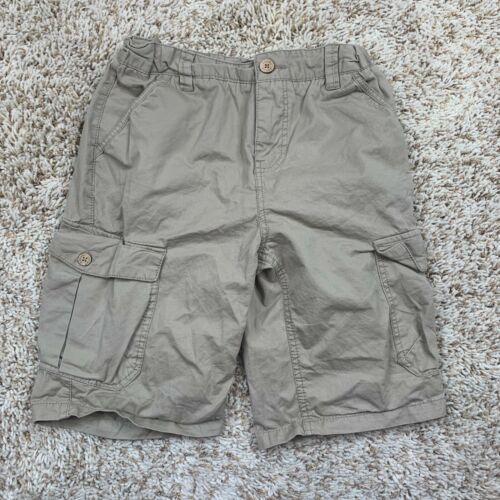 Lucky Brand Cargo Shorts Boys 12 Beige 100% Cotton Elastic Waist