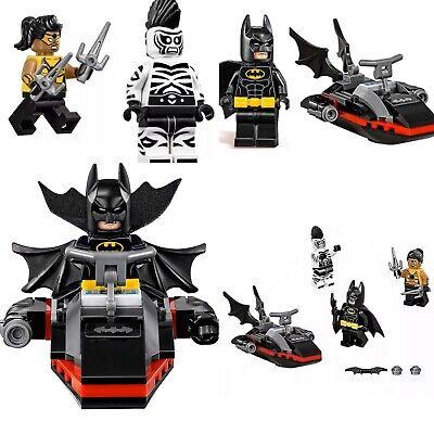 💯% Lego Lot BATMAN ZEBRA-MAN TARANTULA Minifigs + WEAPONS JETSKI  70907