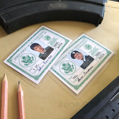 Rambo / First Blood - Pair of Prop Military Issue Cards / Vietnam Cosplay IDs