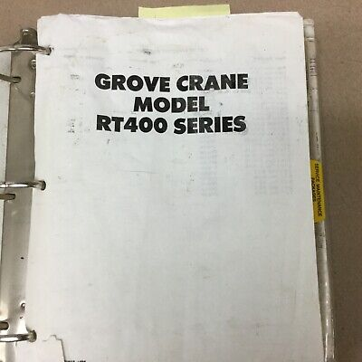 Grove Rt400 Rt418 Rt422 Crane Service Shop Repair Manual Rough Terrain Hydraulic