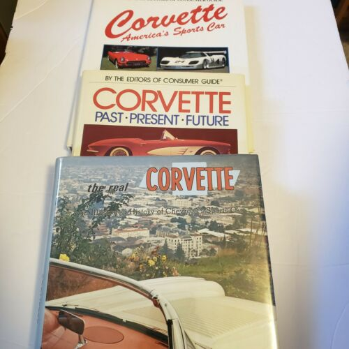 Corvette Three Classic Books- Past Preset Future/ History/America s Sports Car - $24.95