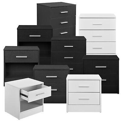 [en.casa]® Nachttisch Schubladen Nachtkommode Beistelltisch Schrank Ablage Büro - Schlafzimmer Modernen Beistelltisch