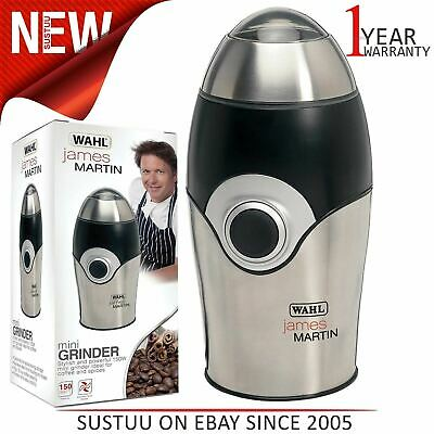 Wahl ZX595 James Martin Coffee Grinder¦Stainless Steel¦70 G / 10 Cup Capacity¦