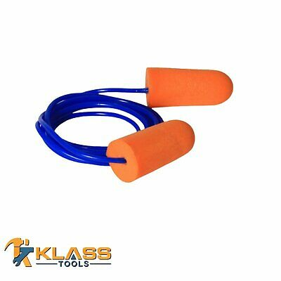 Orange Disposable Earplugs With Blue Cord Ear Plugs Packs Of 25 To 1000 Pair