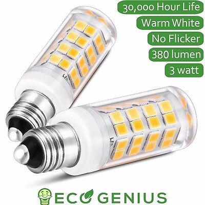 Eco-Genius E11 Base LED light bulb 380lm, 3W, mini candelabra chandelier(2pack)
