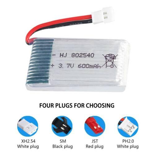 802540 3.7V 600mAh 25C Li-po Battery for WLtoys V931 SYMA X5