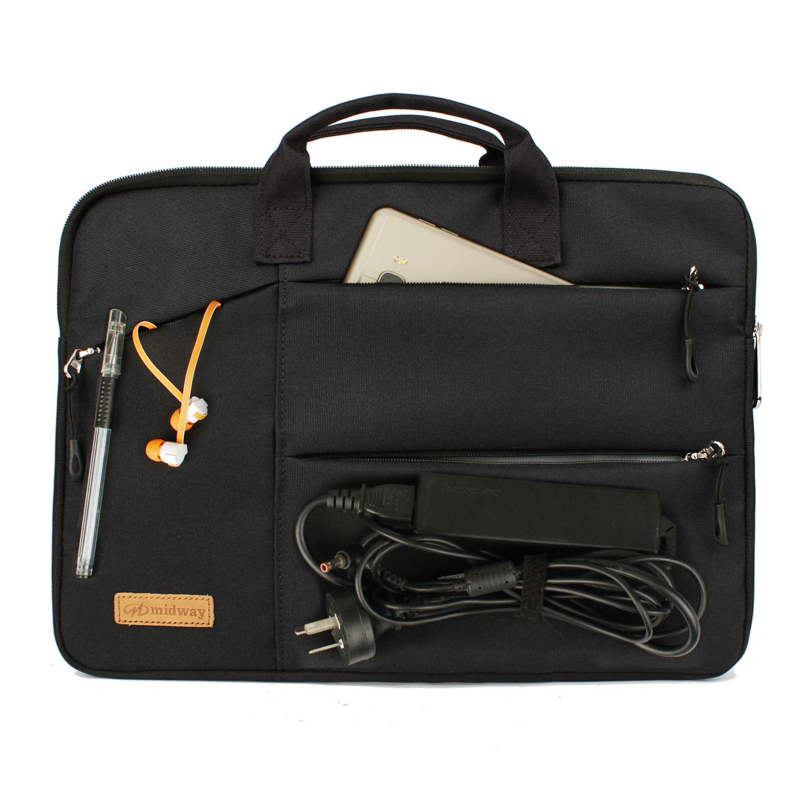 BLACK LAPTOP BAG With Zip & 2 Handles Sleeve Skin Case For 1