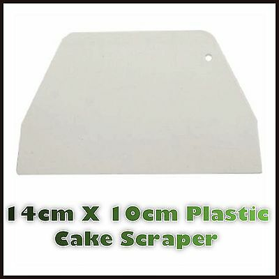 1 X PLASTIC SCRAPER DECORATING CAKE BAKING ICING FONDANT PLAIN SMOOTH EDGE