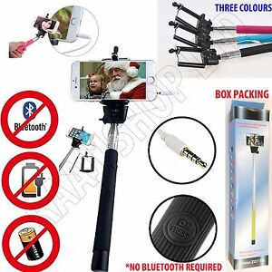 TELESCOPIC SELFIE STICK MONOPOD REMOTE MOBILE HOLDER FOR SAMSUNG GALAXY S8 PLUS