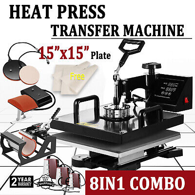 8 In 1 Digital Heat Press Machine Sublimation For T-shirt Mug Plate Hat Printer