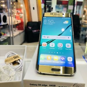 GOOD CONDITION GALAXY S6 EDGE 64GB GOLD TAX INVOICE UNLOCKED Surfers Paradise Gold Coast City Preview