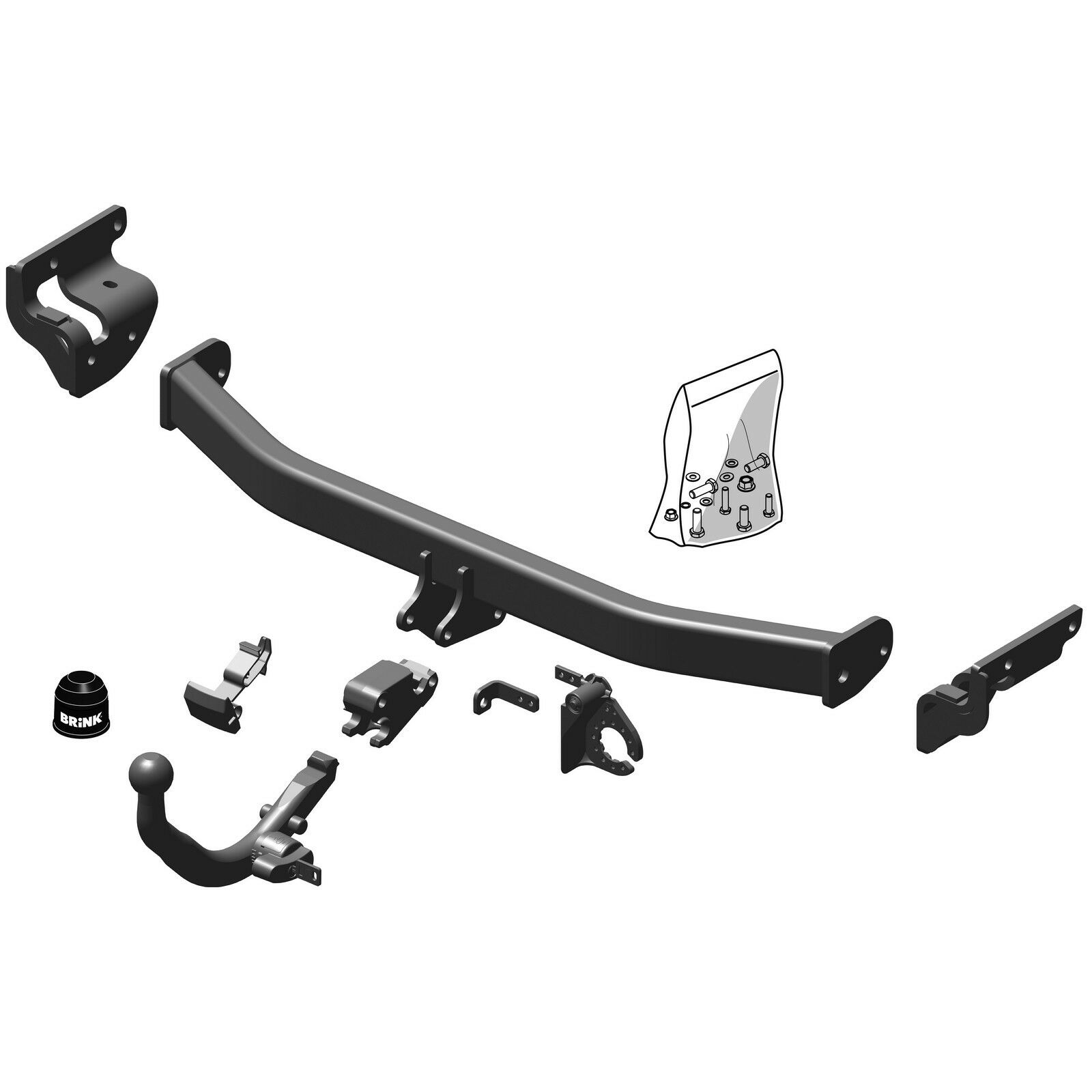 Detachable Tow Bar Brink Towbar for Citroen C4 Picasso 2013 Onwards