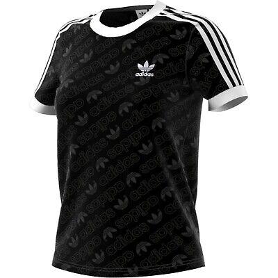 Adidas 3 Stripes Tee T-Shirt Damen Shirt schwarz 35694