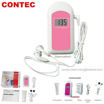 New Fetal Doppler Prenatal Baby Sound Baby Heart Monitorgellcd Displaycefda