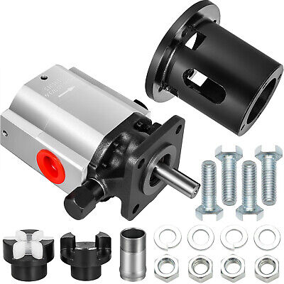 Vevor 13gpm Log Splitter Pump Wcoupler Set And Pump Mount 2 Stage Gear Pump