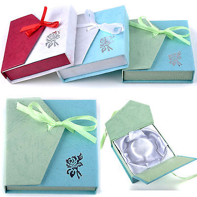 Great Square Package Bowknot Jewellery Necklace Bracelet Present Gift Box Case