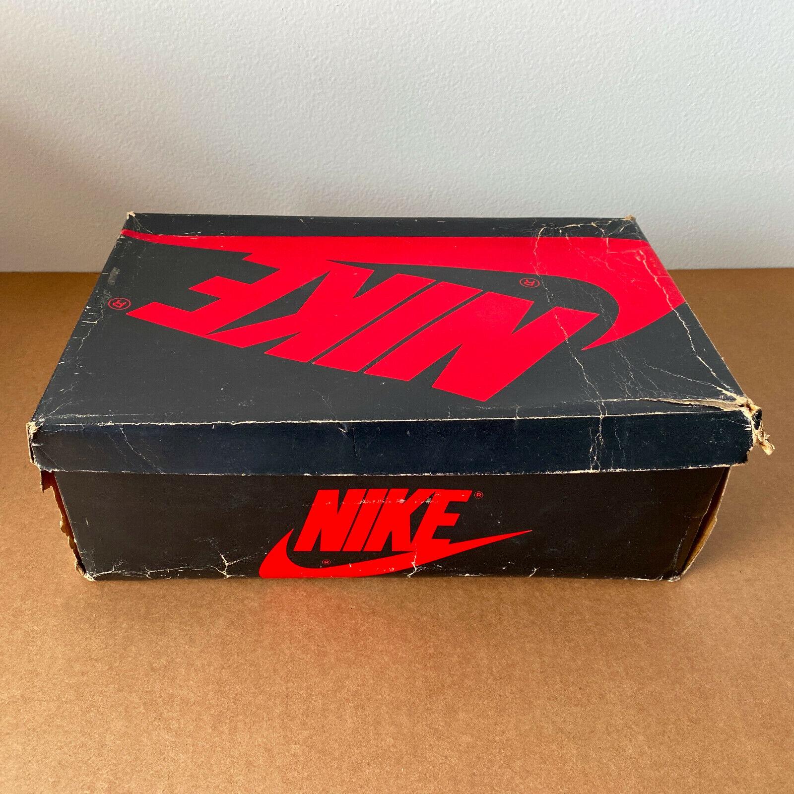 Vintage Original 1985 Nike Air Jordan I 1 4281 BRED BANNED empty shoe box 80s 88