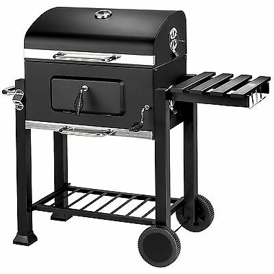Holzkohlegrill BBQ Holzkohle Barbecue Smoker Grill Gartengrill Grillwagen