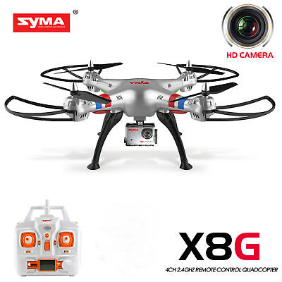 Syma X8G RC Quadcopter Drone With HD Camera Headless 2.4G 4CH Gyro RTF