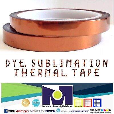 2rolls Heat Resistant Tapes Sublimation Press Transfer Thermal Tape 10mm30m