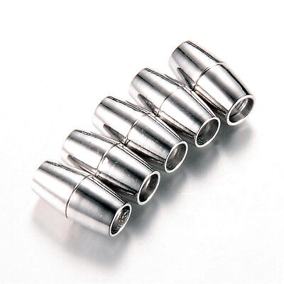 Magnetverschluss ovale Form Schmuckverschluss Kettenverschluss Verbinder  3-8 mm Magnetverschluss