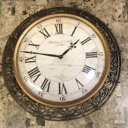 Wall Clock Roman Numeral Vintage