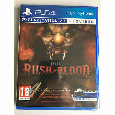 Until Dawn Rush of Blood VR (PS4) New & Sealed - PS Playstation VR Required