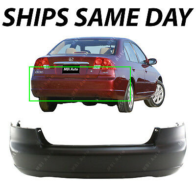 NEW Primered - Rear Bumper Cover Fascia for 2001-2003 Honda Civic Sedan & Hybrid - Fascia Rear Bumper