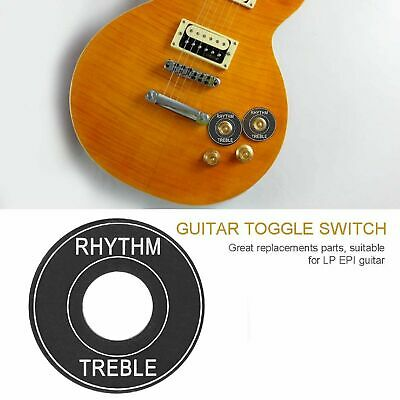 Toggle Switch Ring Plate Standard size for Gibson guitars – Black gold lettering Guitars & Basses