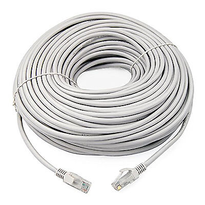 30m Grey External Outdoor Network Ethernet Cable Cat5e LAN PC Router Modem RJ45 for sale  Shipping to Ireland