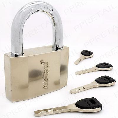 HEAVY DUTY 70mm ANTI THEFT PADLOCK 4 SECURITY KEYS Hardened Steel Gate Door Lock