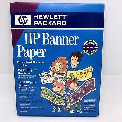 HP Party Banner Paper C1820A - Makes up to 15 Five Foot Banners (Hp Banner Paper)