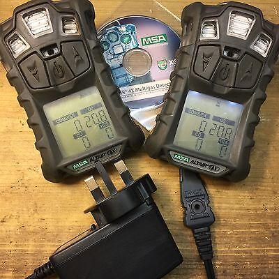 2   X Msa Altair 4 X Multi Gas Monitor Detector Meter