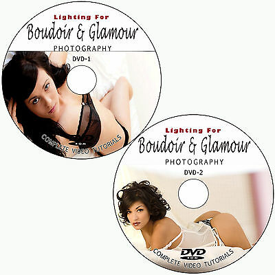LEARN BOUDOIR / GLAMOUR DIGITAL PHOTOGRAPHY LIGHTING TRAINING TUTORIALS ON 2 DVD