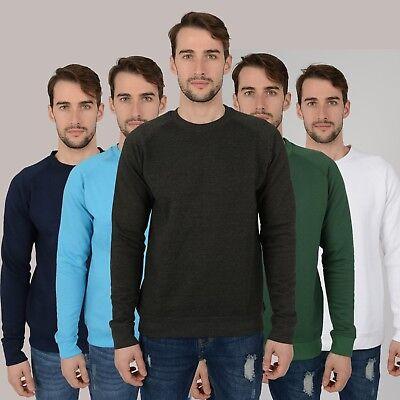 Mens Raglan Sweatshirt Better Quality New Jumpers Tops Work Sweater Jersey (Best Quality Crewneck Sweatshirts)