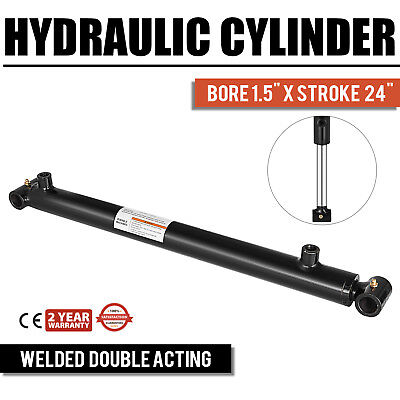 Hydraulic Cylinder For Loader Welded Double Acting 1.5 Bore 24 Stroke 1.5x24