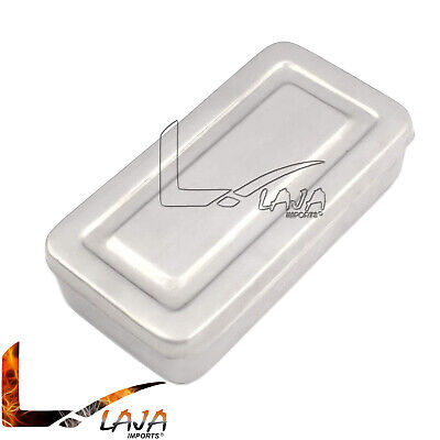 Stainless Steel Surgical Tray Dental Dish Lab Instrument Tool With Lid 7x3x1.5