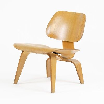 RARE Eames Herman Miller 1951 LCW Lounge Chair Wood Evans Calico Ash for sale  Hershey