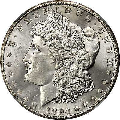 Click now to see the BUY IT NOW Price! 1893 CC MORGAN SILVER DOLLAR. MS 65 NGC.